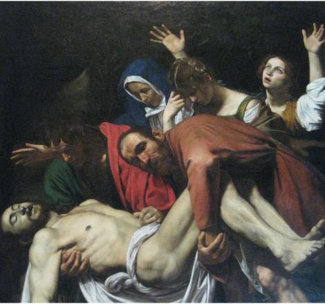 """""""Descendimiento de la cruz"""". Carvaggio"""
